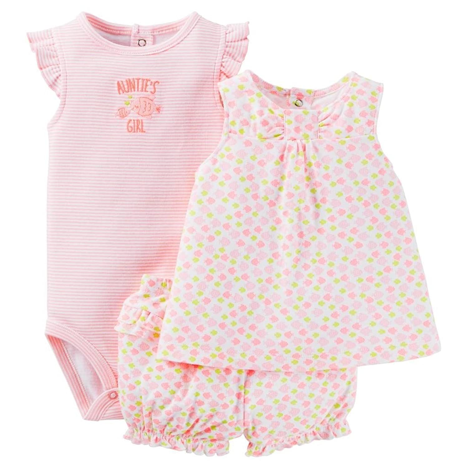 00bc77219 Carter's Just One You Baby Girls' Fishy Diaper Cover Set - Pink/Multi