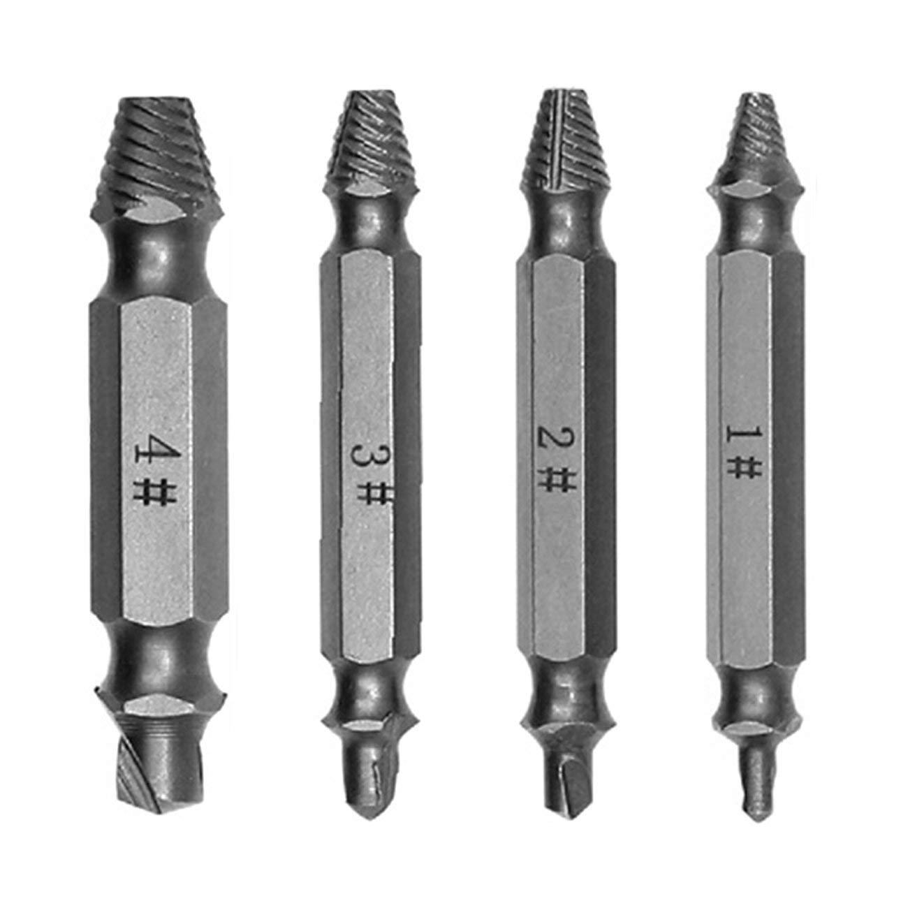 Kit 4 pezzi Doppio lato danneggiato Estrattore a vite estrattore per estratto LO
