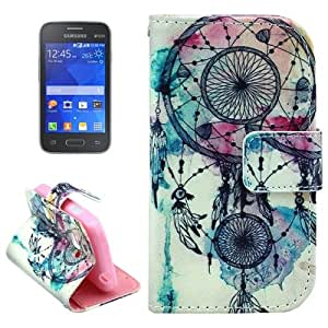 National Cap Style Pattern Leather Funda & Holder Case Cover con bolsillos internos para & Wallet Galaxy Young G130 2 /