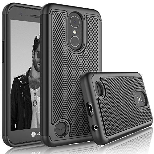 Tekcoo LG K20 V/LG K20 Plus Case,Tekcoo LG Harmony/V5/K10 2017 Sturdy Case, [Tmajor] Shock Absorbing [Black] Rubber Plastic Scratch Resistant Defender Bumper Rugged Slim Grip Hard Cover Cases