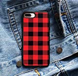 Red Plaid Phone Case Compatible w/iPhone XR Case Xs Max 7 Plus 8 Plus 7 8 Models X/Xs (iPhone 7/ iPhone 8)