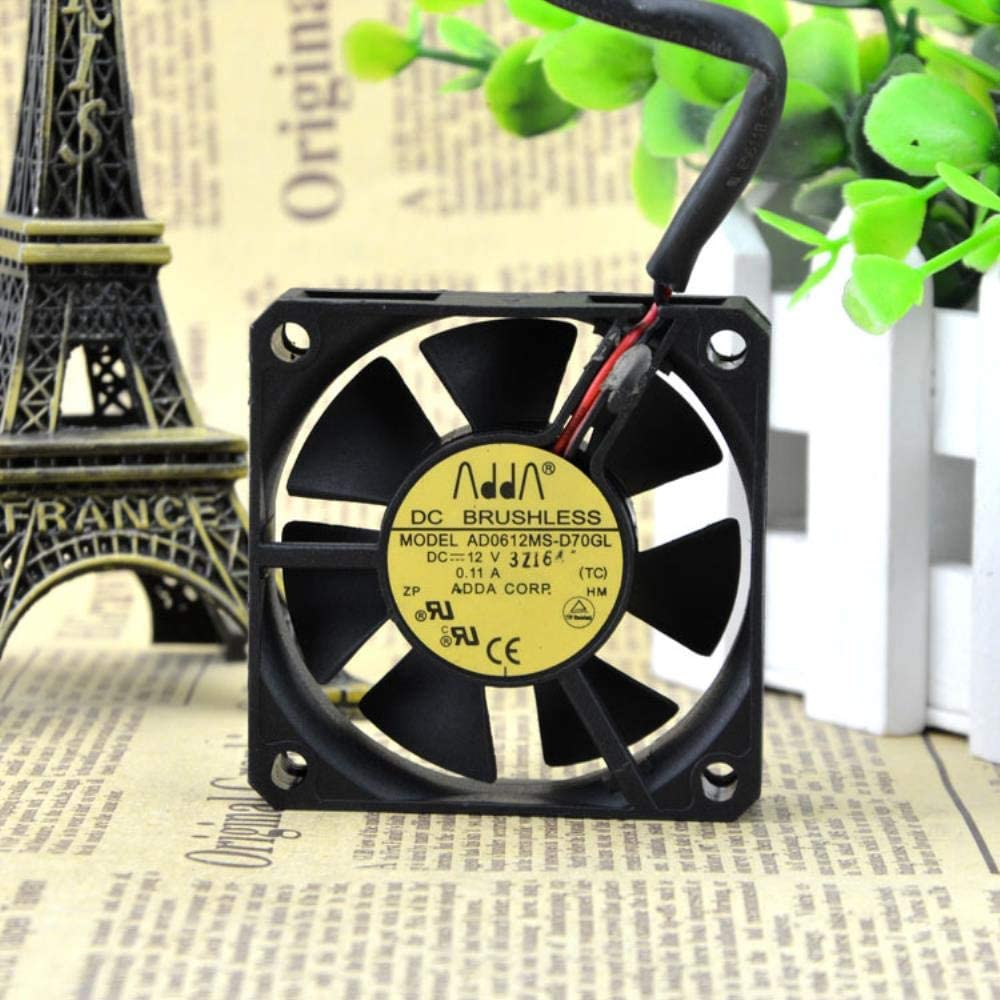 for ADDA Xixi 6015 12V 0.11A 6cm Chassis Cooling Fan AD0612MS-D70GL