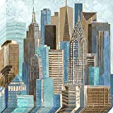 Pinnacle Frames and Accents A Walk in The City, 36x36-Inch