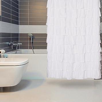 Duschvorhang Weiss Duschvorhang 180x180 Cm Rusche Fur Bad Vorhang