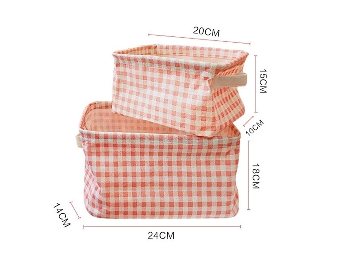 Amazon.com: Junson Finishing Basket Plaid Cloth Square ...