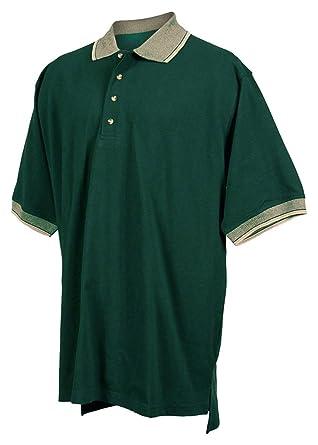 bc4b926bf Tri-Mountain 196 Mens cotton pique golf shirt with jacquard trim - Forest  Green