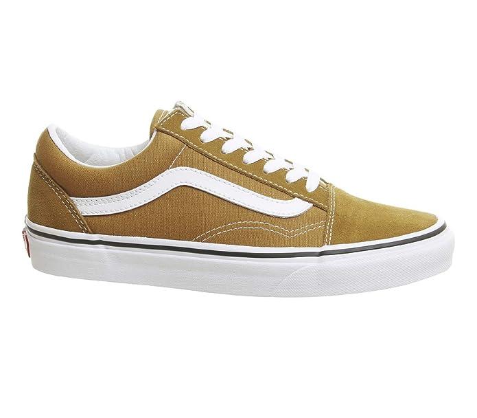 Vans Old Skool Sneaker Damen Herren Kinder Unisex Kurkuma Gelb/Braun (Cumin)