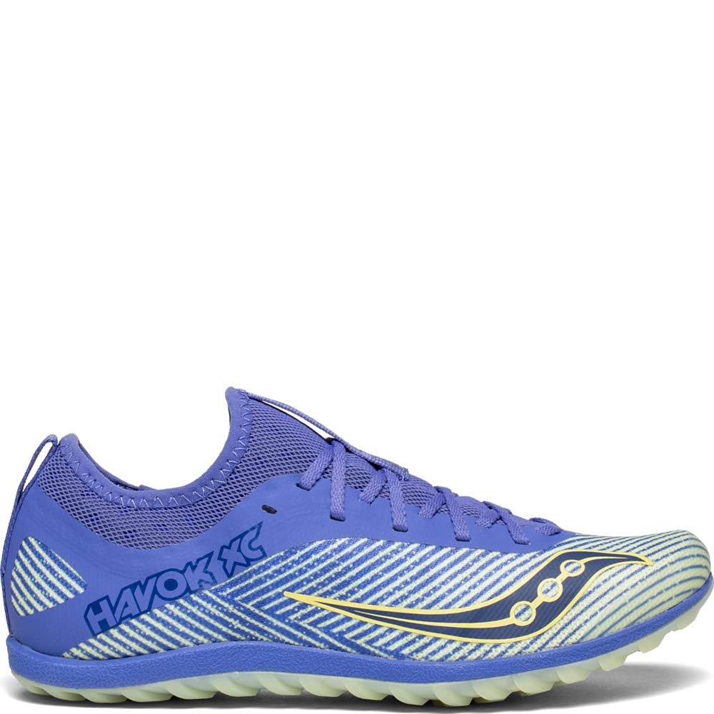 Saucony Women's Havok XC2 Flat Track Shoe Purple/Yellow 6.5 M US