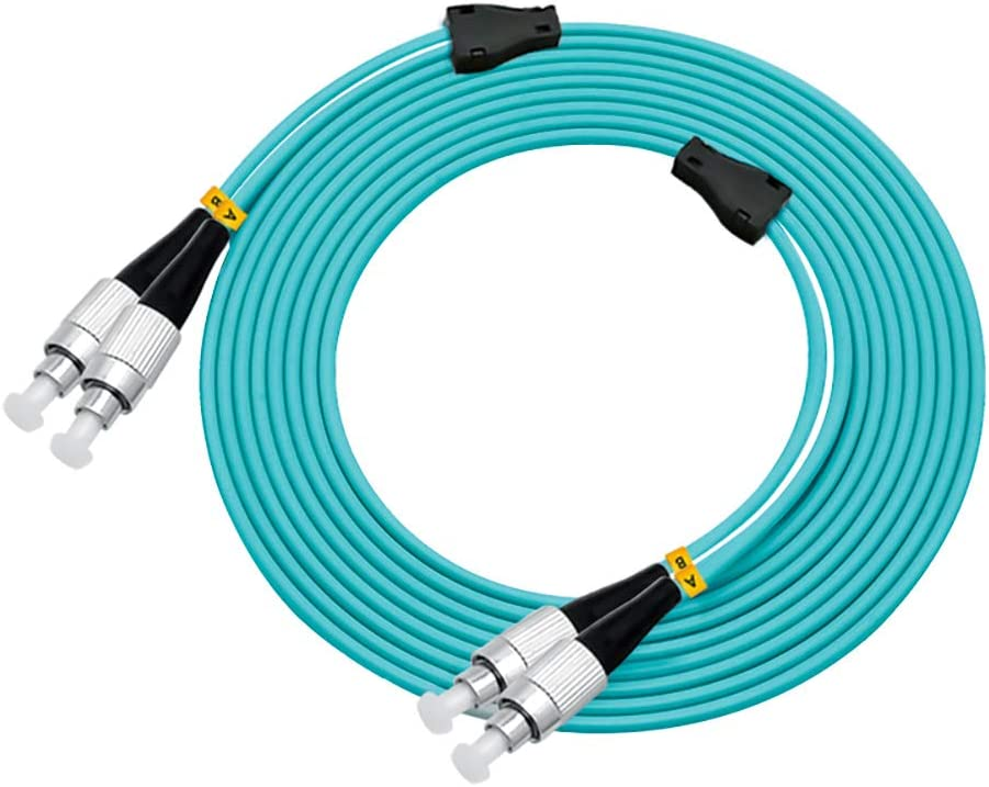 ST//UPC to ST//UPC LODFIBER 120meters Outdoor Armored 10G OM3 2 Strands Fiber Optic Cable 50//125
