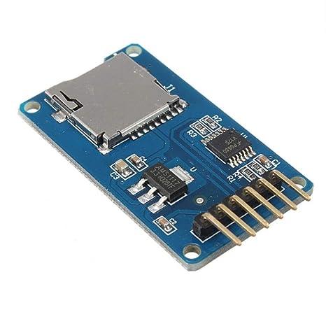 Tarjeta MicroSD TF de memoria módulo de SPI Micro Adaptador ...