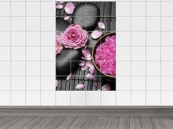 Piastrelle adesivo piastrelle stampa su cristalli rosa da spiaggia