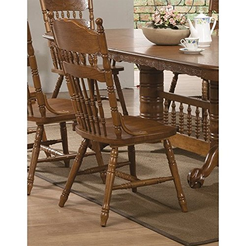 Coaster Home Furnishings 104272 Country Dining Chair, Oak, Set of 2 Review