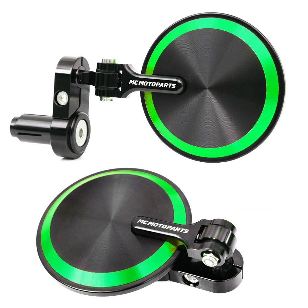 Amazon.com: Green Reborn CNC Bar End Mirrors For Kawasaki ...