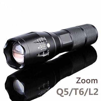 Kaxima LDE réglable se concentrant rechargeable lampe de poche Mini super lumineux T6 télescopique se concentrant la lumière en aluminium