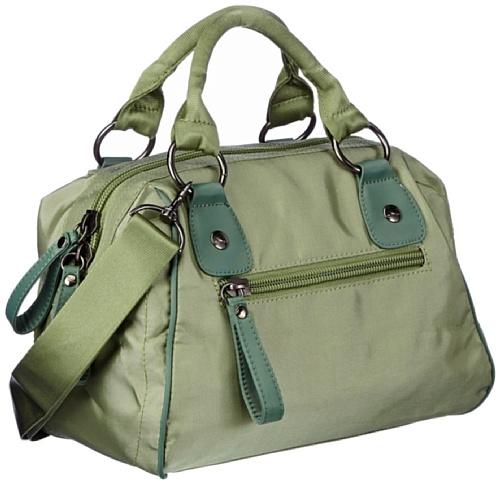 Sansibar Mayenne - Bolso de mano de material sintético mujer verde - Grün (green)