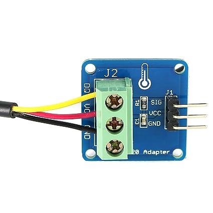 Impermeable DS18B20 módulo de Sensor de temperatura digital DS18B20 y de adaptador para Arduino