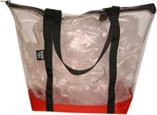 product image for Clear Beach Tote, Transparent Tote,Pink Tote,Beach Tote,Airport Security (Red)