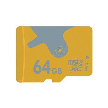 ALERTSEAL Tarjeta de Memoria microSDXC UHS-I (U3) Clase 10 (C10) de 64 GB con Adaptador SD
