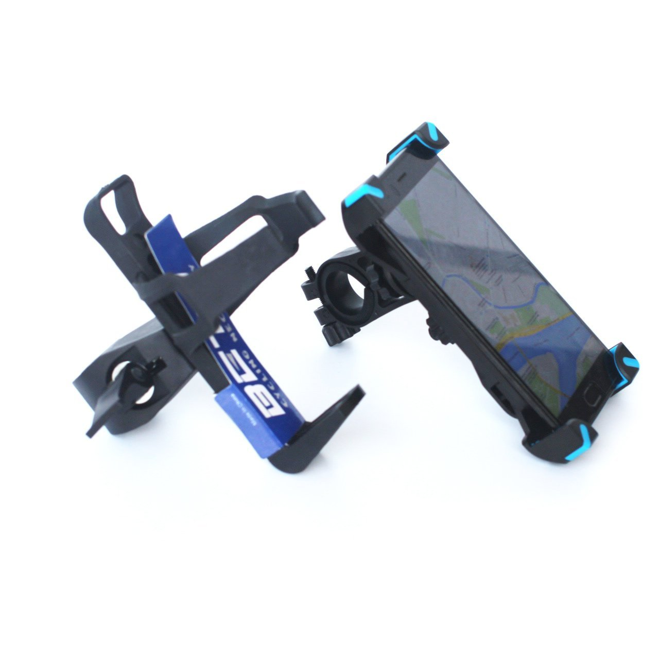 Bicycle Mobile Phone Holder Water Bottle Holder, Multi-Function Bracket Clip, Bicycle Accessories, Handlebar Holder, 2 Piece Set, Suitable for 3.5~7 Inch Mobile Phone, Motorcycle/Mountain Bike