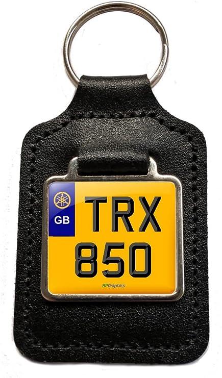 Llavero de piel TRX 850 estilo placa, para Yamaha TRX 850 ...