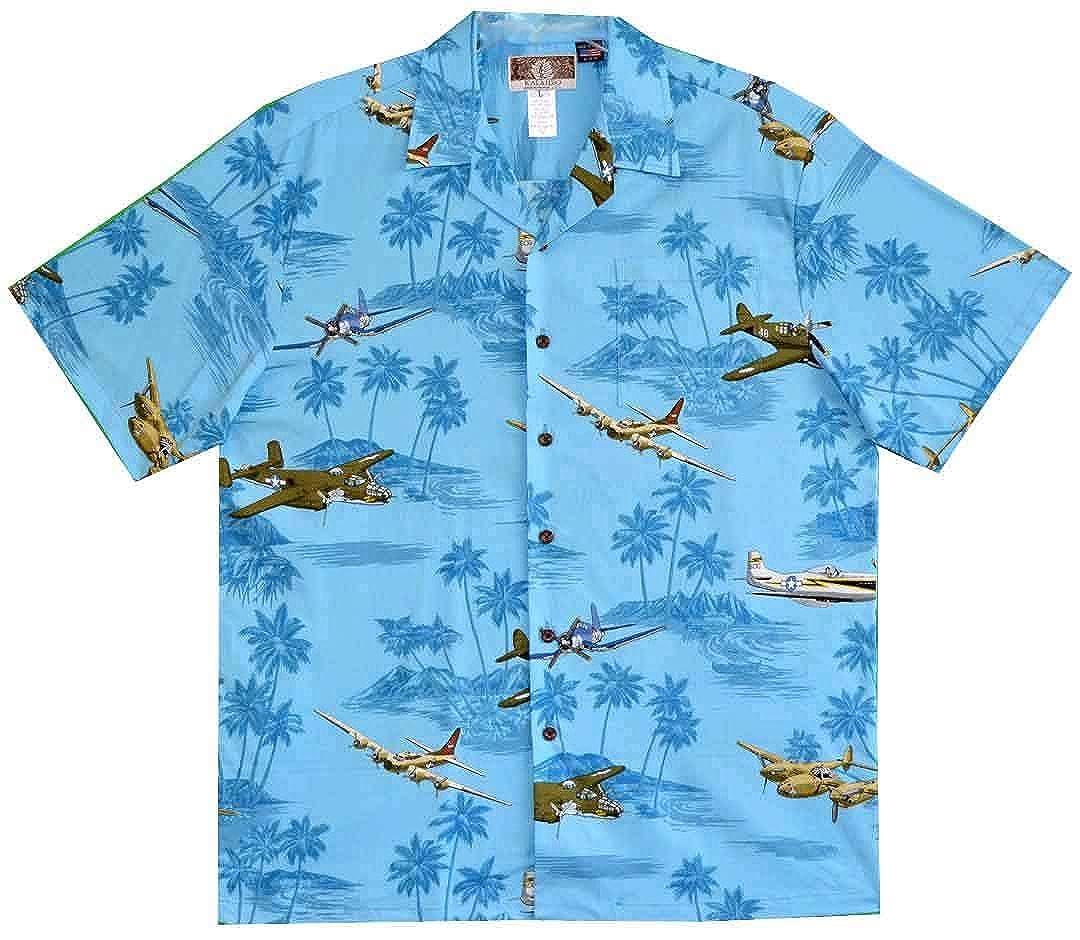 Kalaheo Mens World War II Bomber Aloha Shirt
