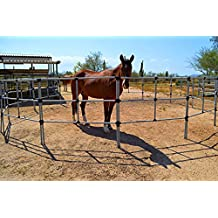 Portable Horse Corral Box Set: EconoLine- 8 Panels; 3 Rails