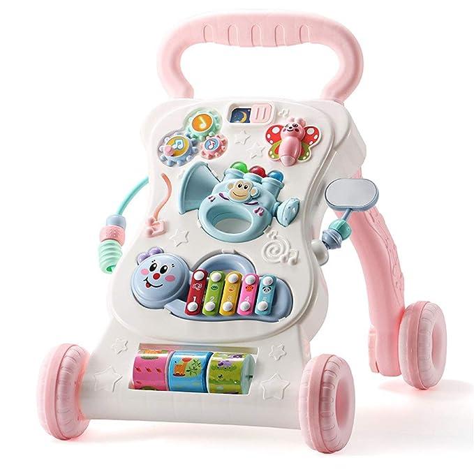 ChenYongPing Andador para Bebé Actividad Walker, Rosa/Azul ...