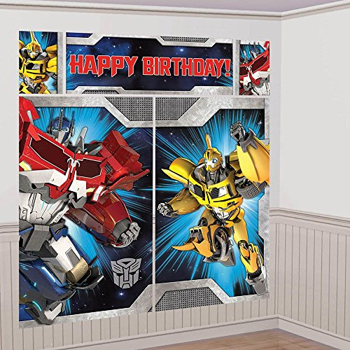 Amscan Transformers Scene Setter Wall Decorating Kit