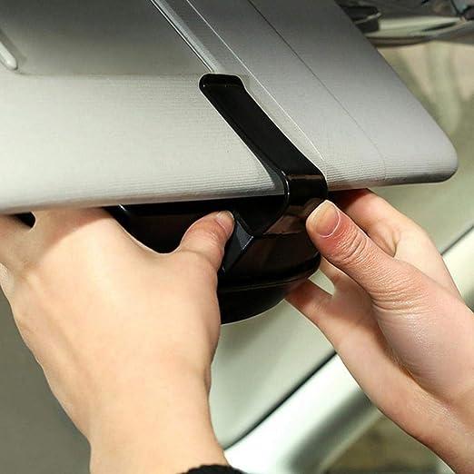 Auto Sonnenbrillenhalter Auto Vielseitig Sonnenbrillen Speicher Halter Clip Case Organizer Box Universal Black Auto