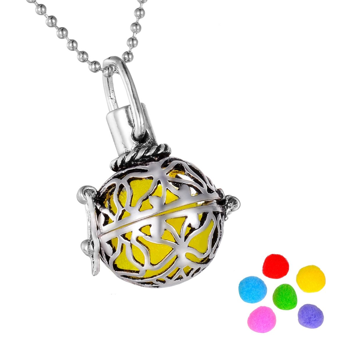 HooAMI Butterfly Aromatherapy Essential Oil Diffuser Necklace Pendant Magical Box Locket Jewelry