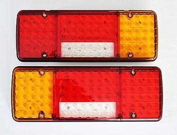 2 x 24 V Trasera Luces LED 5 Funciones diseño ultrafino para Camión Trailer Chasis Camión Volquete Autocaravana Camper: Amazon.es: Coche y moto