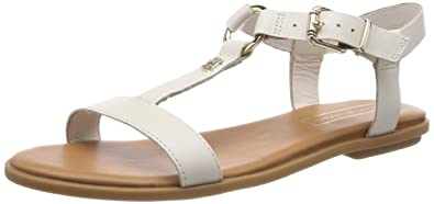 13a94e609 Tommy Hilfiger Women s Elevated Leather Flat Sandal Flip Flops ...