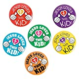 Jesus Loves This Kid Mini Metal Buttons (48 pcs)