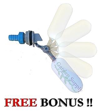 PVC Mini válvula de flotador con brazo ajustable para estanques acuarios • • acuaponia • La
