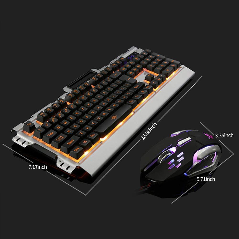 IREALIST Illuminated Gaming Keyboard, USB Wired Keyboard, 104-Key Anti-Ghosting Game Keyboard with Backlight