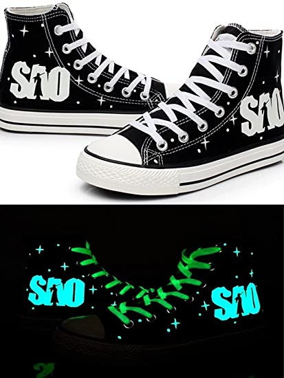 9a389d967b5c SAO Sword Art Online Cosplay Shoes Canvas Shoes Sneakers Luminous