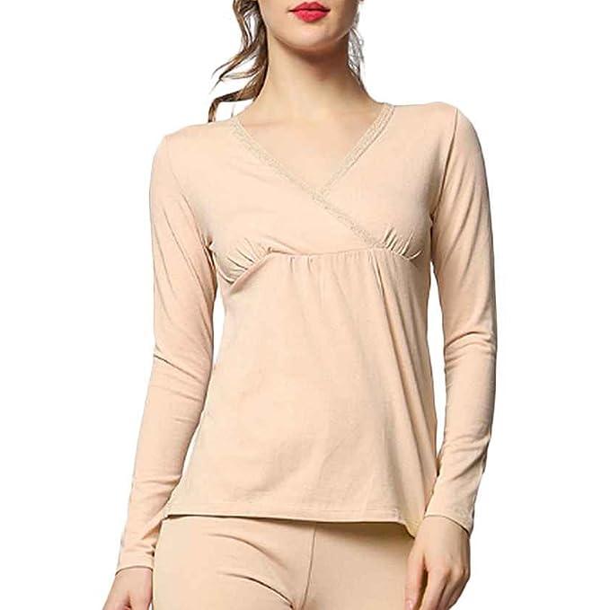 Masterein Conjunto de pijama de enfermería para mujeres Conjunto de pijama de lactancia Conjunto de pijamas
