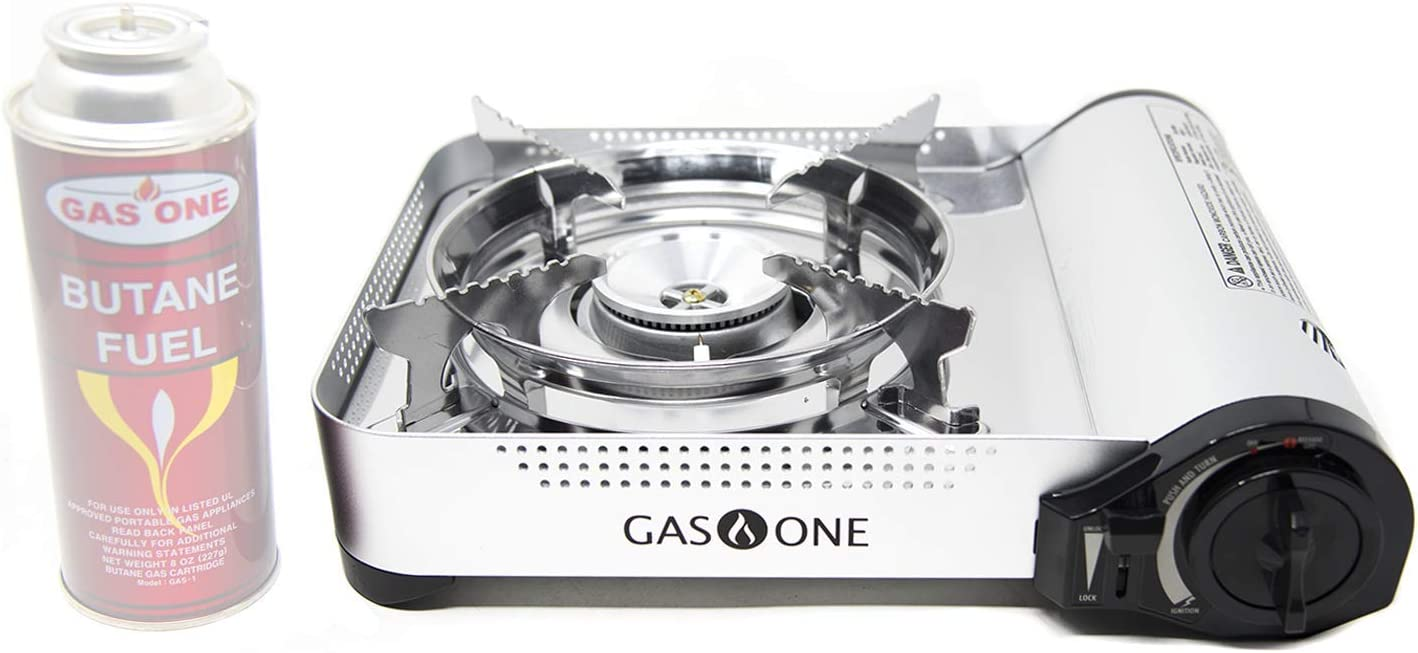 GasOne GS-3950 - Camp Stove - Premium Butane Stove with Convenient Carrying Case, Great for Camp Stove and Portable Butane Stove for All Cooking Application and Emergency Preparedness Kit