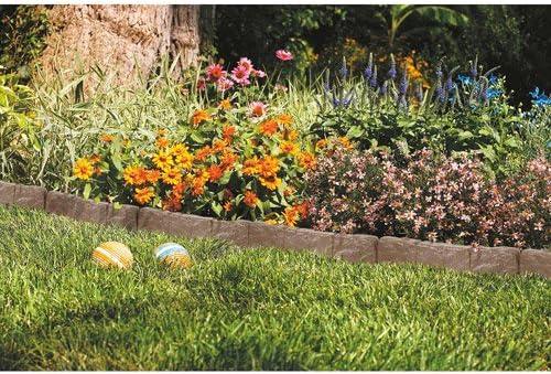 Suncast frontera borde piedra para jardín, color marrón: Amazon.es: Jardín