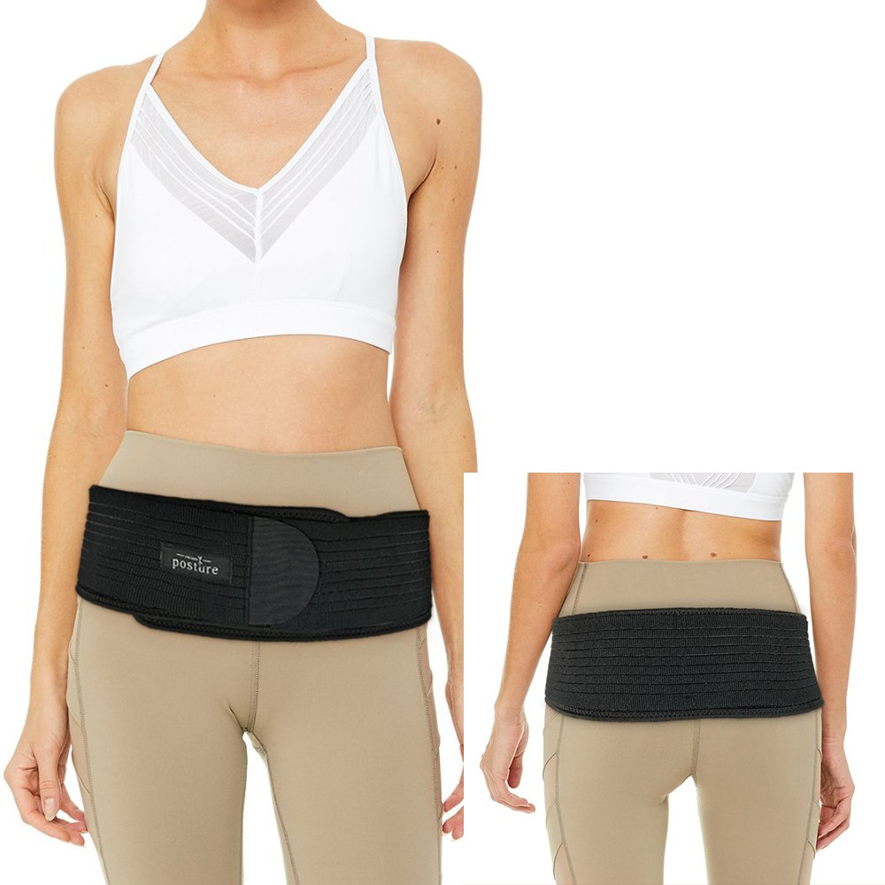 Sacroiliac Hip Belt for Women and Men that Alleviate Sciatic, Pelvic, Lower Back and Leg Pain, Stabilize SI Joint | Trochanter Belt | Anti-Slip and Pilling-Resistant Material ( SIZE XL / XXL )