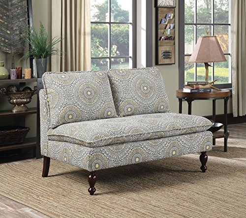 Coaster Home Furnishings 902484 Settee, Blue/Yellow