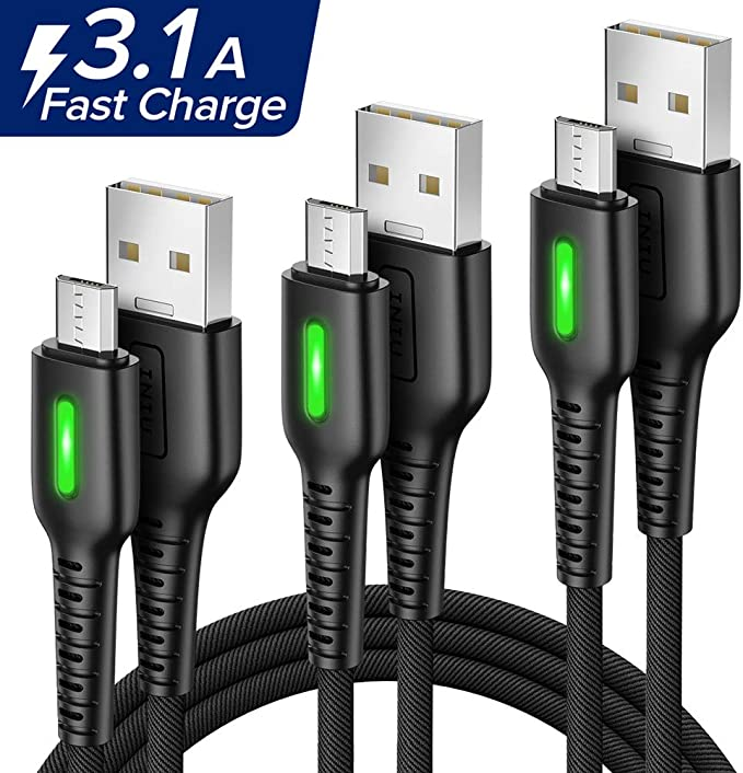 Micro USB Cable 2M 3Pack Aione Android
