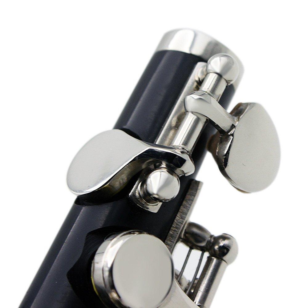 stoffa ZANTEC Flauto ottavino C chiave in argento placcato con cacciavite custodia argento