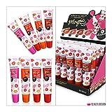24 x Lip Gloss Set Magic Lip Tattoo Pack 4 Colours Display Box Wholesale UK by Magic