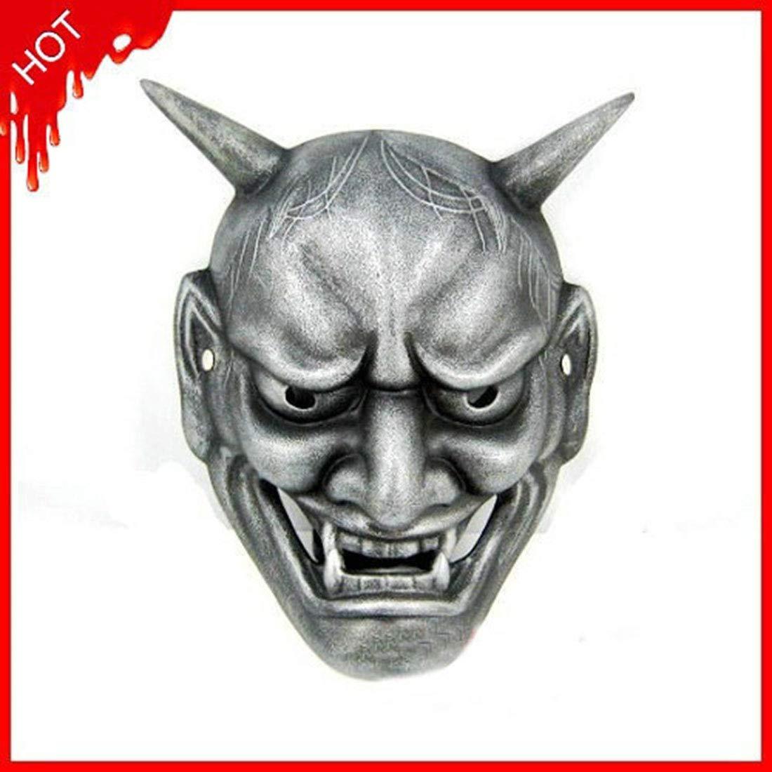 Sasa Prom Maske Japanischen Buddhismus Geist Kopf Prajna Maske Harz Maske Zwei Farben, Silber