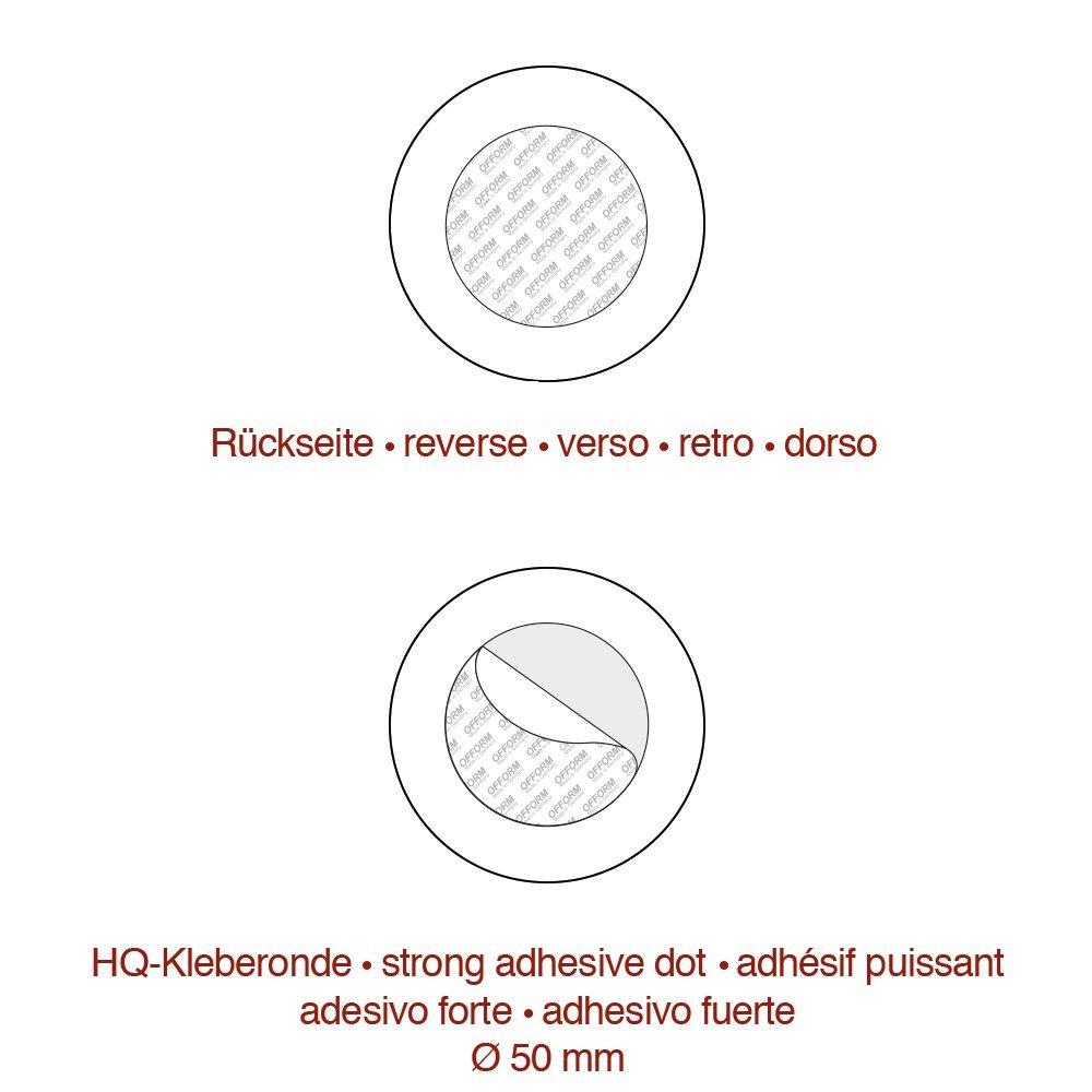 Pictogramme Produits de Nettoyage /Ø 75 mm No.8512 OFFORM Plaque de Porte en Acier INOX bross/é