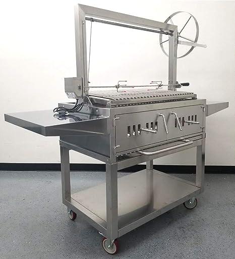 370-80-1 370mm x 80mm Parrilla barbacoa de acero inosidable para parillas barbacoa