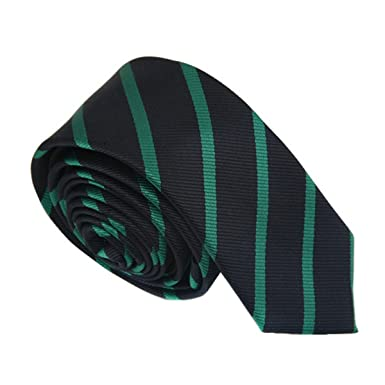 9726fabd15 TNS Black & Dark Green Thin Skinny Tie: Amazon.co.uk: Clothing