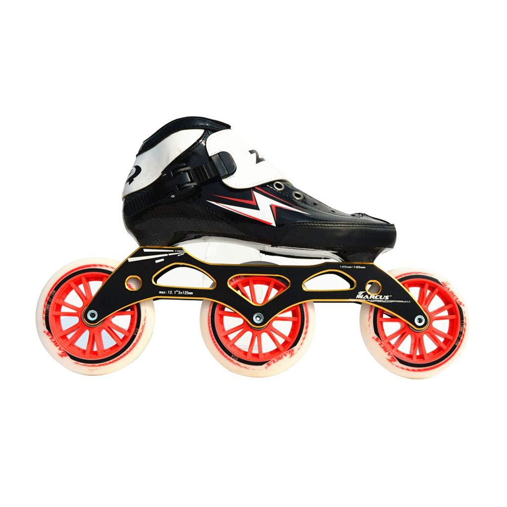 ailj スピードスケートシューズ90MM-110MM調整可能なインラインスケート、ストレートスケートシューズ(3色) (色 : 赤, サイズ さいず : EU 43/US 10/UK 9/JP 26.5cm) 赤 EU 43/US 10/UK 9/JP 26.5cm