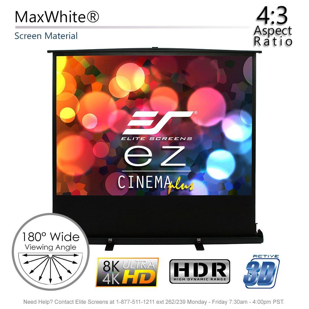 Amazon.com: Elite Screens ezCinema Plus Series, 60-INCH 4:3, Manual Pull Up Projector  Screen, Movie Home Theater 8K / 4K Ultra HD 3D Ready, 2-YEAR WARRANTY, ...